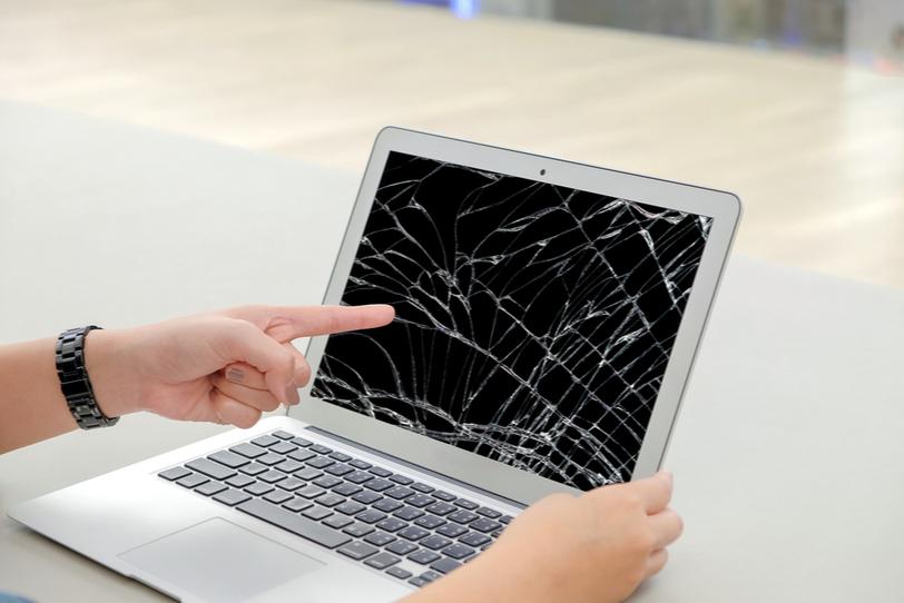 Признаки поломки экрана ноутбука